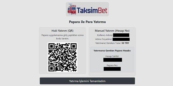 TaksimBet Ödeme Yöntemleri